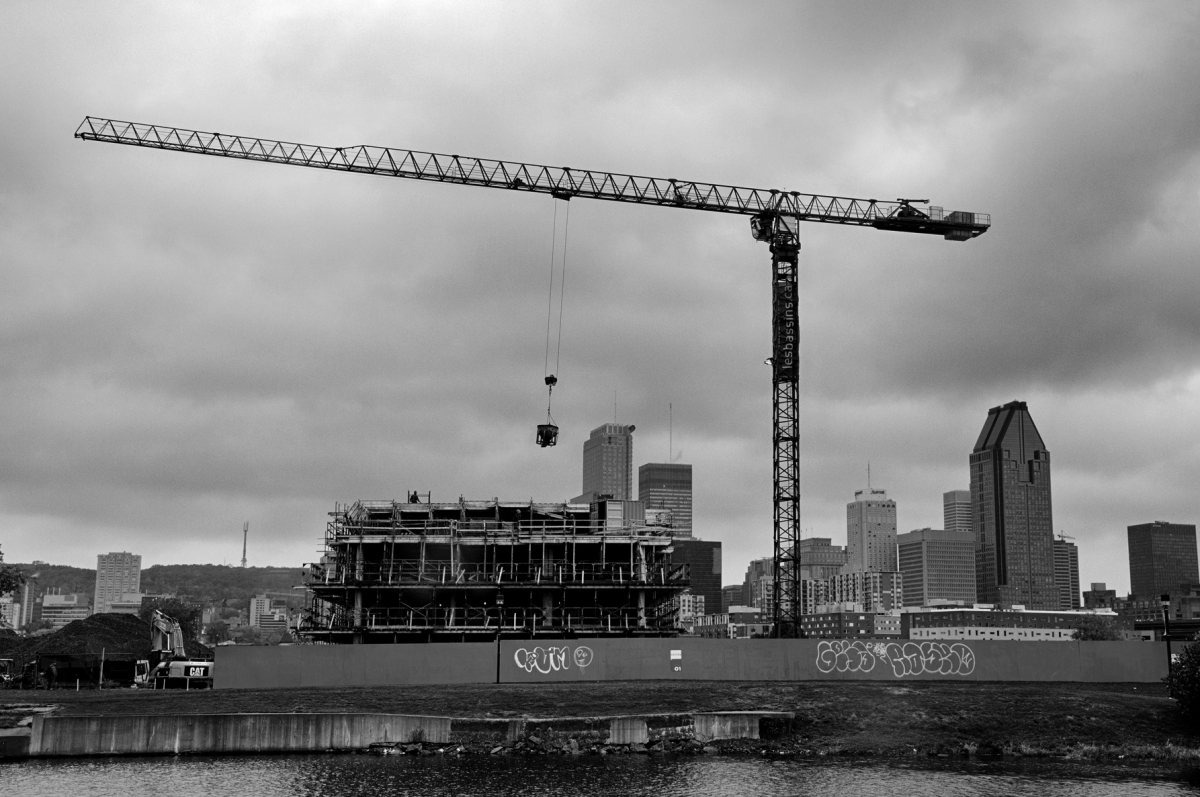 New condominium complexes now line Montreal's Lachine Canal. Photograph by David W. Lewis.